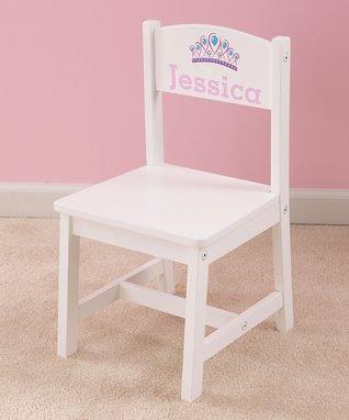 White Personalized Tiara Chair