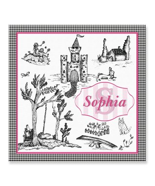 Personalized Castle Scene Wall Sign