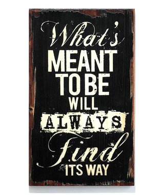 'What's Meant to Be' Wood Wall Art
