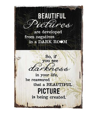 'Beautiful Pictures' Wood Wall Art