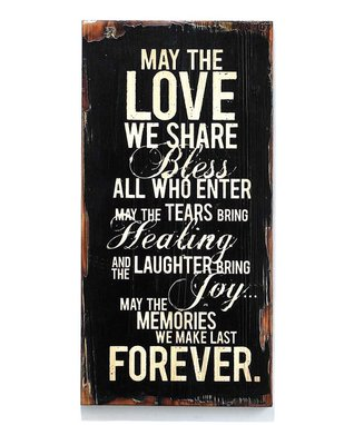 'Love We Share' Wood Wall Art
