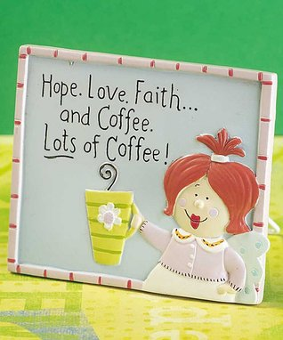 'Hope, Love, Faith & Coffee' Tabletop Art