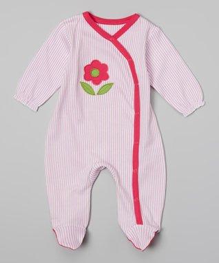 Sweet Peanut Red & White Heart Organic Romper - Infant
