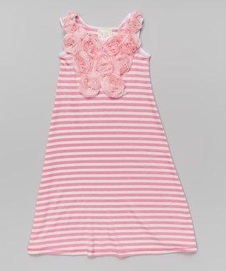 Pink Stripe Maxi Dress - Toddler & Girls