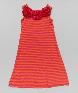 Pink & Orange Maxi Dress - Toddler & Girls