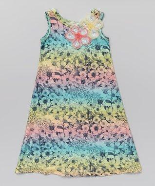 Coral Ombré Maxi Dress - Toddler & Girls
