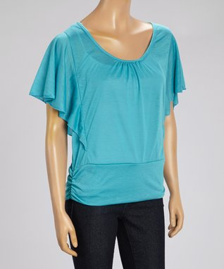 Black Mountain Apparel Blue Angel-Sleeve Top