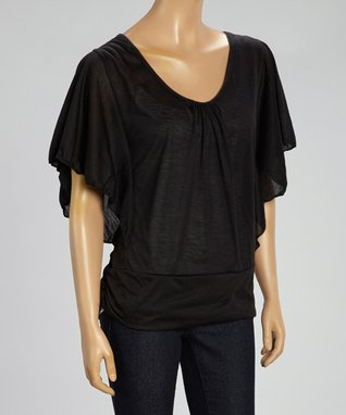 Black Mountain Apparel Black Angel-Sleeve Top