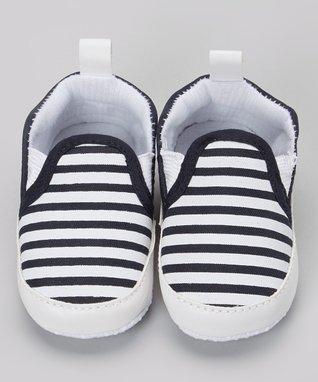 Blue & White Stripe Polar Bear Socks