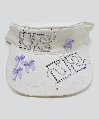 Il Trenino White & Lilac 'Love' Sun Hat