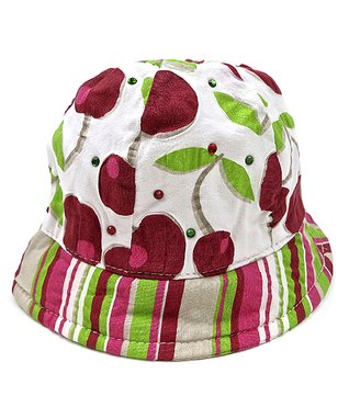 Il Trenino Red & Green Cherry Bucket Hat