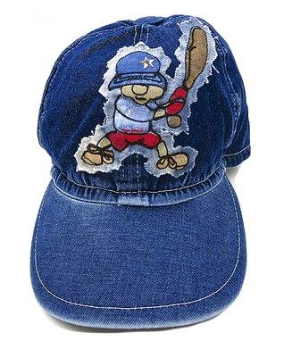 Il Trenino Navy Blue Baseball Denim Cap