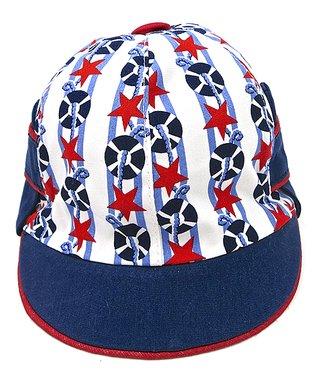Il Trenino Navy & White Gingham Sailor Hat