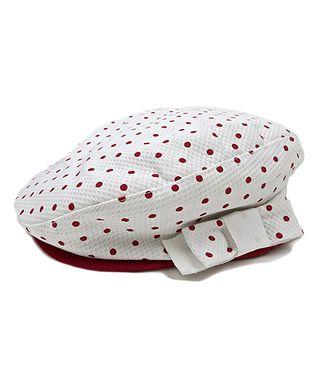 Il Trenino White & Red Polka Dot Bow Hat