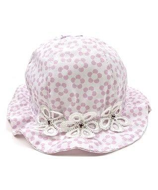Il Trenino Pink & White Flower Bucket Hat