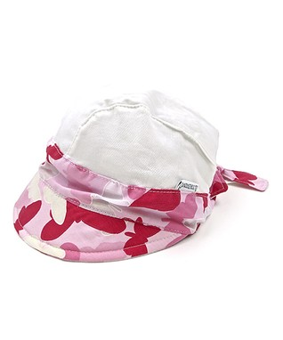 Il Trenino Gray & White Sparkle Flower Hat