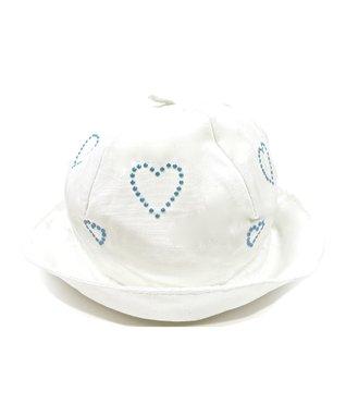 Il Trenino White & Blue Heart Boat Hat