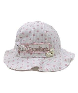 Il Trenino White & Pink Polka Dot Bucket Hat