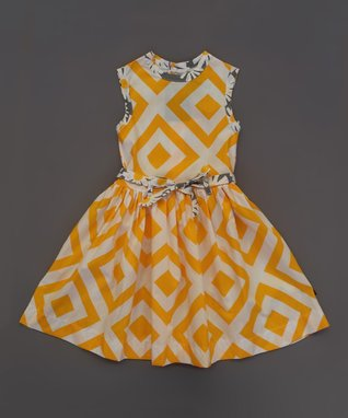 Yellow & White Barceloneta Dress - Infant, Toddler & Girls