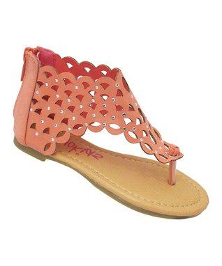 Fuchsia Cutout Sandal