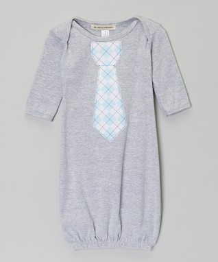 Light Blue Lil' Heroes Tie Gown - Infant