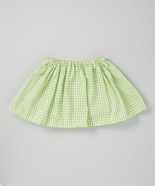 Yellow & White Gingham Skirt - Infant