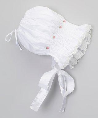 White Smocked Bonnet