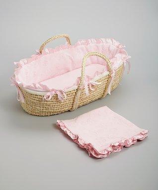 Pink Hampton Moses Basket Set