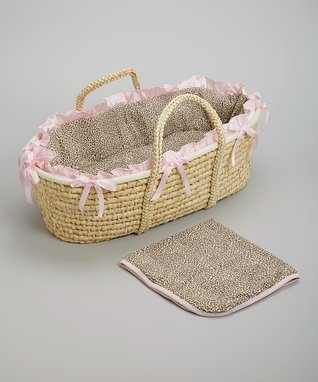 Tan Cheetah Hampton Moses Basket Set