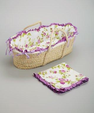 Purple Roses Hampton Moses Basket Set