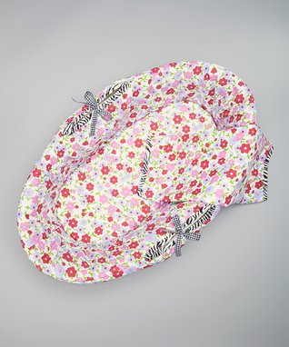 Pink & White Retro Poppies Three-Piece Bedding Set