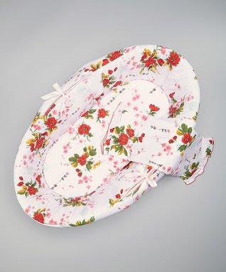 Pink & White Cherry Blossoms Bedding Set
