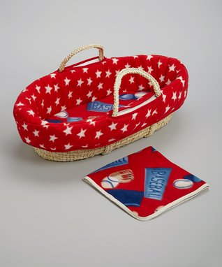 Red All-American Moses Basket Set