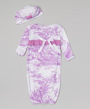 Purple Garden Gown & Beanie