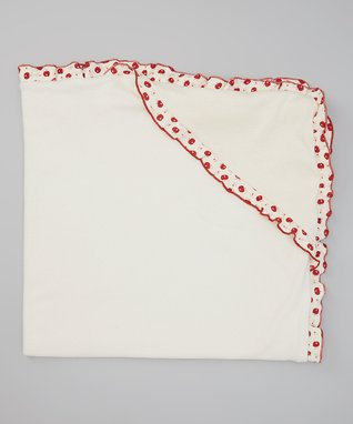 Pink & White Vintage Apples Hooded Blanket