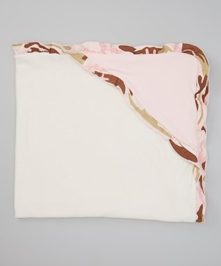 Pink Camo Hooded Blanket