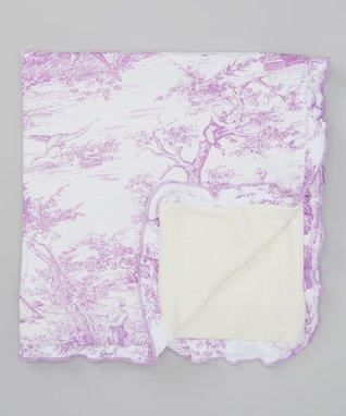 Purple & White Garden Blanket
