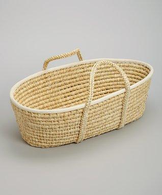 Beige Handmade Woven Basket