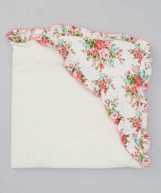 Vintage Floral Hooded Blanket
