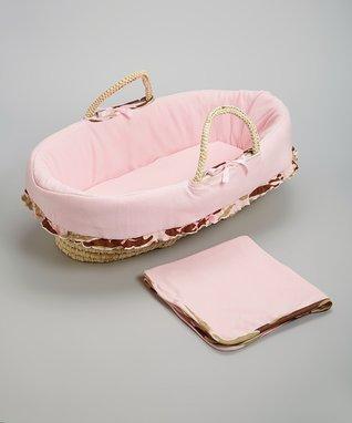 Pink Camo Moses Basket Set