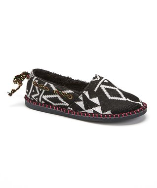 TigerBear Republik Black Hex Hot Tamale Knit Slipper