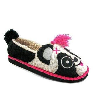 TigerBear Republik Black Pandarama Beastie Slip-On Shoe