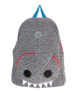 TigerBear Republik Gray Schtoopid Shark Beastie Backpack