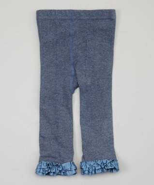 Blue Ruffle Leggings - Infant, Toddler & Girls