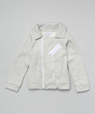 Heather Gray Moto Jacket - Girls