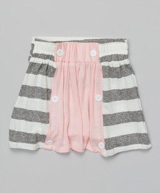 Pink Stripe Sailor Skirt - Toddler & Girls