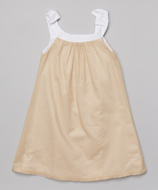 Natural Shimmer Dress - Toddler & Girls