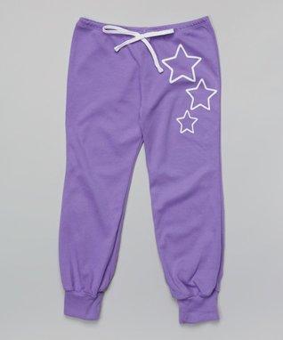 Lilac Star Harem Pants - Toddler & Girls