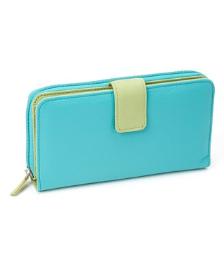Mundi Turquoise & Green All-in-One Wallet