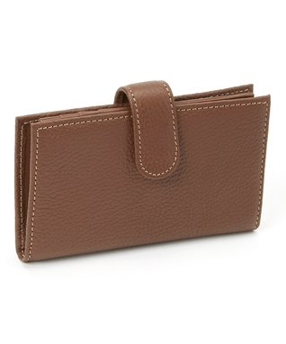 Gemelli International Brown Mini Zip Wallet